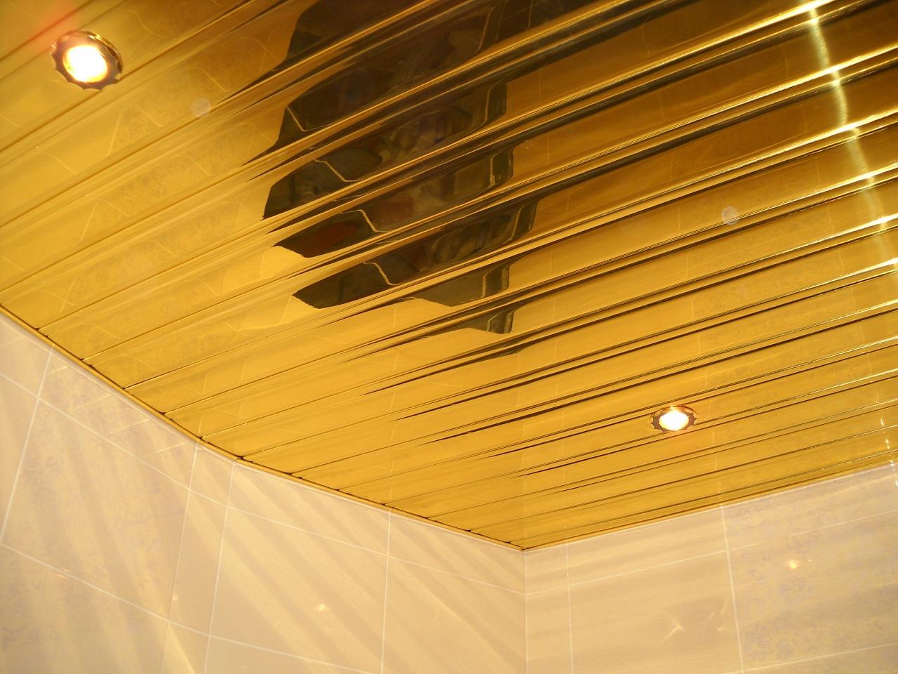 Реечный потолок в комнате своими руками